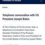 Președintele Biden a propus un summit cu Putin pe teren neutru